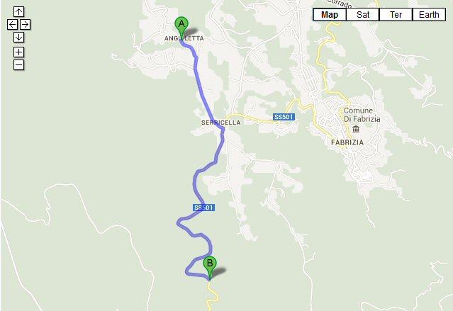 Map of Contrada Angilletta, Fabrizio, VV